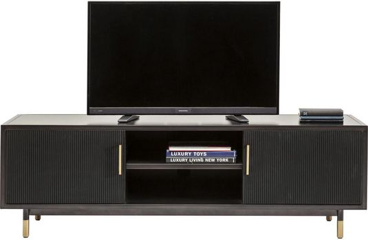 Kare design tv kast nero zwart 55x170x50 designwonen.com